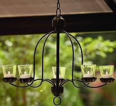 hanging votive chandelier for outdoor living space patio deck rohannowell