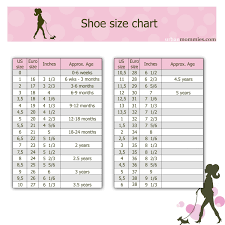 Girls Shoe Size Chart Kids Shoe Size Chart Shoe Size Chart Kids Baby Shoe