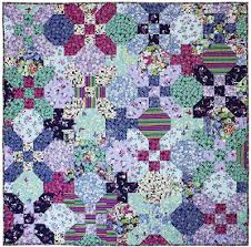 Quilt Inspiration: Free Pattern Day: Snowball Quilts & Meadow quilt, free pattern by Tara Faughnan for Michael Miller Fabrics Adamdwight.com