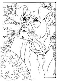 Coloring Page Boxer Dog Patterns Coloring Pages Dog Coloring