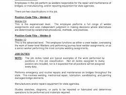 Stylist Welder Job Description For Underwater Welding Arc Sample