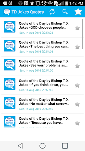 Td Jakes Quotes Unique TD Jakes Quotes Of The Day For Android Free Download And Software