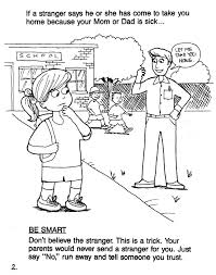 Small Picture Printable Coloring Pages Stranger Safety Coloring Sheets