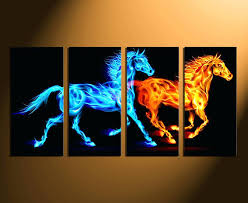 horse canvas wall art 4 piece photo canvas horse huge canvas art wildlife large pictures animal horse canvas wall art  on shadow rider horse canvas wall art with horse canvas wall art horse canvas wall art white and gold mustang