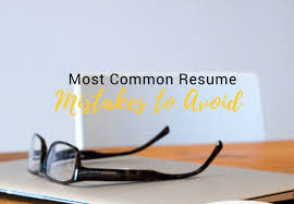 Most Common Resume Mistakes To Avoid – Style Resumes – Professional ...
