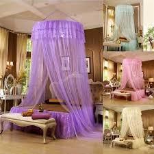 Mermaid Image Is Loading Rounddomelacebedmosquitonettingcanopyprincess Ebay Round Dome Lace Bed Mosquito Netting Canopy Princess Bedding Girls