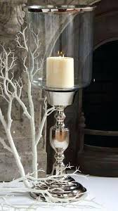 silver hurricane candle holders inch glass hurricane on tall silver pedestal base