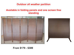 outdoor privacy screen partitions