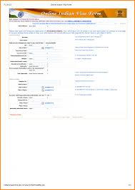 7 India Tourist Visa Application Form Agile Resume Indian Usa Onl