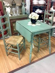 chalk painted drop leaf table | The table was pretty wobbly which was an  easy fix, just a little ... | Chalk Paint Furniture | Pinterest | Paint  drop, ...