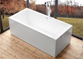 wide 60 inch freestanding bathtub rectangular freestanding tub with end drain
