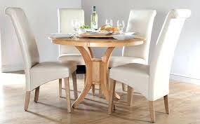 modern round dining table set white leather dining room set solid wood round dining table for