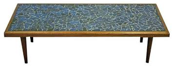 Superb Mid Century Danish Tile Top Coffee Table Mosaic Midcentury Coffee Tables Gallery