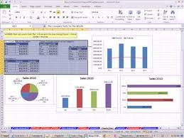 Excel 2010 Statistics 07 Charts Basics Pie Column Bar Line And X Y Scatter