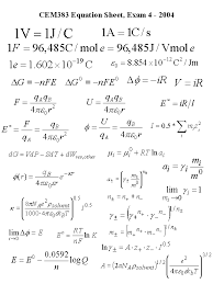 physical chemistry equation sheet jennarocca