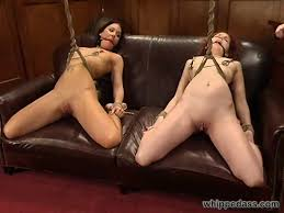 Lesbians force fucked in bondage