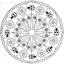 Small Picture Mandala For Kids Simple mandala coloring pages nebulosabarcom