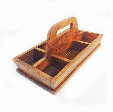 vintage tool caddy divided wooden tray with handle rustic wood caddy by 815vintagegoods on