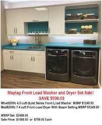 Best Price On Front Load Washer And Dryer Whirlpool Maytag Front Load Wd Sets Save 900 Online Deals
