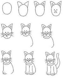 how to draw a cat kids always ask me to draw something and i never know how