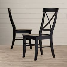 august grove sawyer cross back solid wood dining chair reviews wayfair
