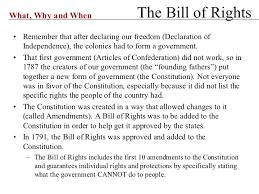 Bill Of Rights Powerpoint Powerpoint Presentation The Bill Of Rights