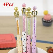 <b>4Pcs</b>/<b>lot</b> 0.5MM Black Ink <b>Cute</b> Crown Ink Gel Pen | Shopee Singapore