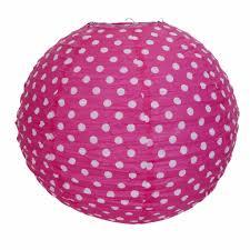 Clayre En Eef Rijstpapier Lamp Kinderkamer Roze Met Witte Stippen
