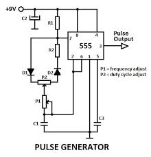 17 best ideas about electronic schematics basic this is a pulse generator adjustable duty cycle made the 555 timer ic the circuit is an astable multivibrator a pulse duty cycle the d