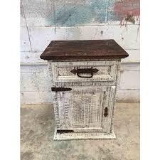 antique white nightstand. Antique White Wash Rustic Pine Night Stand Nightstand