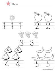 Small Picture Numbers 1 5 Worksheets Kindergarten large printable numbers 1
