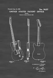 Fender Telecaster Guitar Patent 1951 \u2013 Patent Print, Wall Decor ...