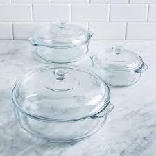 libbey bake glass casserole with lid set