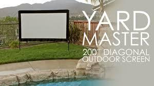 diy outdoor projector screen material designs