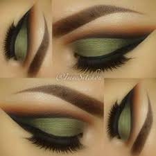 Image result for army green winged liner