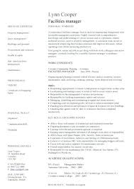 Facility Manager Resume Samples Facility Manager Resume Samples Facilities Management Examples