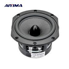 Aiyima 1 PC 4 inch Subwoofer Speaker Bass Speaker Audio Loudspeaker 6ohm 70  W HiFi bass speaker speaker audiosubwoofer speakers - AliExpress