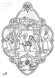 Nativity Color Page Coloring Pages For Kids Preschool Nativity Scene