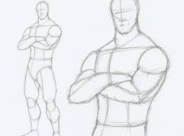 Male Figure Drawing Poses At Paintingvalleycom Explore Collection