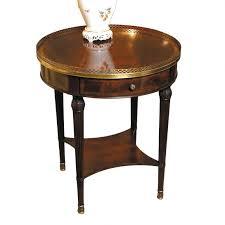 mahogany round side table
