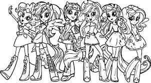 My Little Ponies Coloring Pages My Little Pony Mermaid Coloring