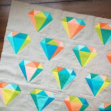 457 best paper pieced quilt blocks images on Pinterest | Fabrics ... & Gemology Quilt Block | Diamond Paper Pieced by SarahRoseQuilts Adamdwight.com