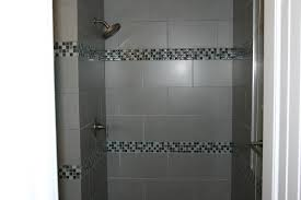 picturesque grey shower tile collection of bathroom pleted by brown on the wall