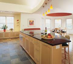 Cushion Floor For Kitchens Contemporary Kitchen Natural Lighting White Island White Granite