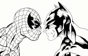 Small Picture coloring pages spiderman and batman coloring pages spiderman and