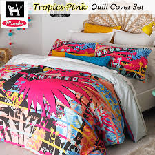 Tropics Pink Surf Quilt DUvet Doona Cover Set by Mambo - SINGLE ... & Tropics Pink Surf Quilt DUvet Doona Cover Set by Mambo - SINGLE DOUBLE Adamdwight.com
