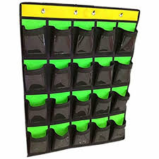 Chart Holder For Classroom Cell Phone Pocket Chart Classroom Calculator Holder Hanging Organizer Green 20