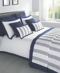 white and navy sheets