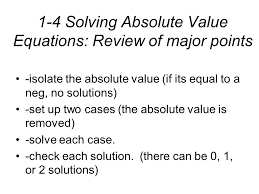 5 1 4 solving absolute value equations
