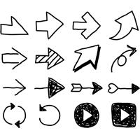 矢印アイコンイラスト手書き 無料フリーイラスト素材集frame